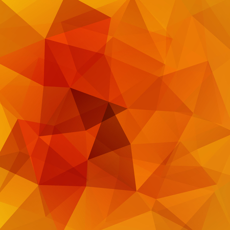 Abstract mosaic background. Triangle geometric background. Design elements. Vector illustration. Orange, red colors.