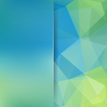 Abstract geometric style blue background. Blur background with glass. Vector illustration Illustration