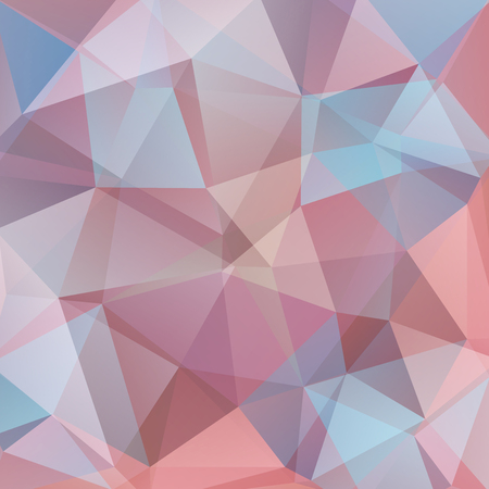 Polygonal vector background in beige, brown, blue, pink colors. Can be used in cover design, book design, website background. Illustration