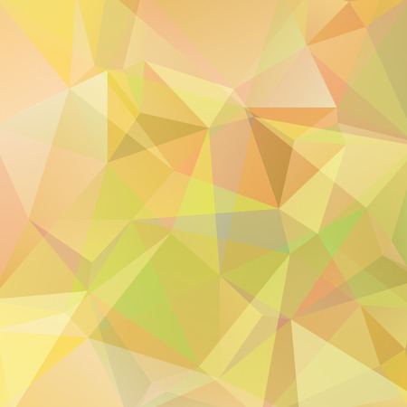 Abstract polygonal vector background. Pastel yellow geometric vector illustration. Creative design template.