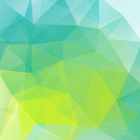 Polygonal vector background. Can be used in cover design, book design, website background. Vector illustration. Blue, green, white colors.