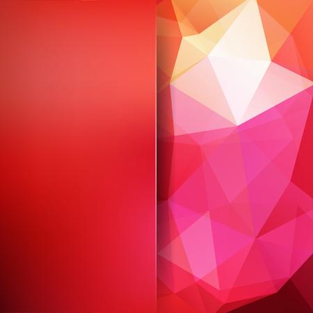Polygonal backdrop pattern design