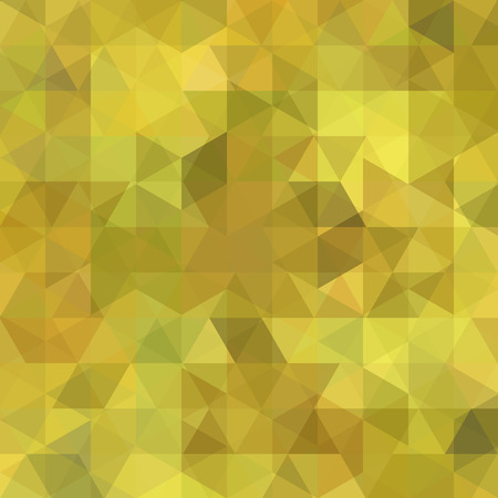 Background of yellow geometric shapes. Abstract triangle geometrical background. Mosaic pattern. Vector illustration.