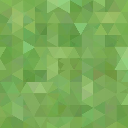 Abstract vector background with triangles. Green geometric vector illustration. Creative design template.