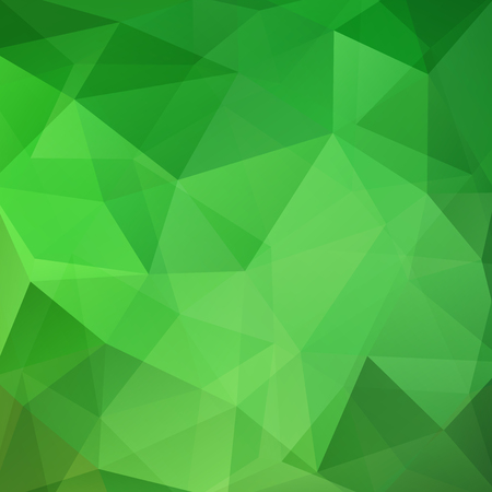 Background made of green triangles. Square composition with geometric shapes. Eps 10 Illustration