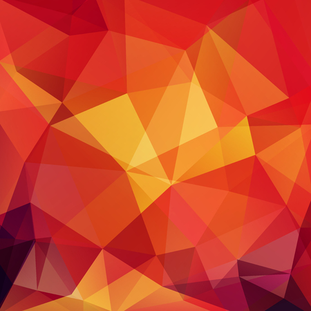 Background of red, orange geometric shapes. Colorful mosaic pattern. Vector EPS 10. Vector illustration