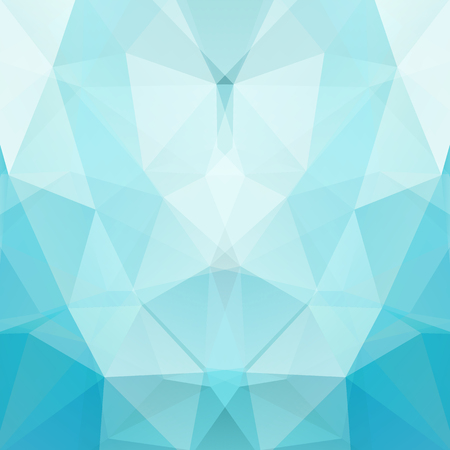 Abstract mosaic background. Triangle geometric background. Design elements. Vector illustration. Blue, white colors.
