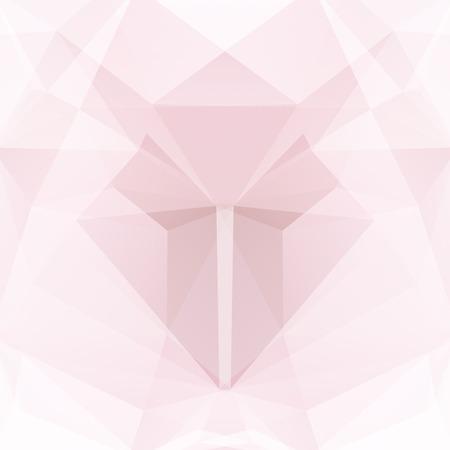 Fond de vecteur polygonal. Peut être utilisé dans la conception de la couverture, la conception du livre, l'arrière-plan du site Web. Illustration vectorielle. Couleurs roses, blancs.