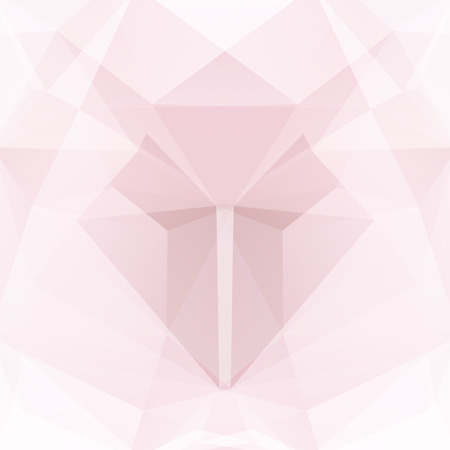 Polygonal vector background. Can be used in cover design, book design, website background. Vector illustration. Pink, white colors.