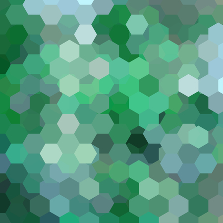 Background made of green, gray , blur, hexagons. Square composition with geometric shapes. Ilustração