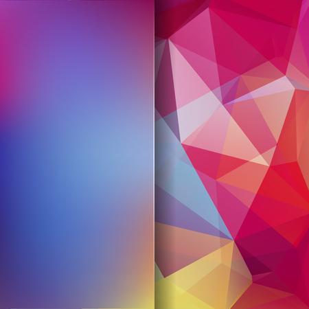 Sfondo astratto poligonale vettoriale. Illustrazione vettoriale geometrico colorato. Modello di design creativo. Priorità bassa astratta di vettore per uso nel disegno. Colori rosa, rossi, blu, gialli. Archivio Fotografico - 97640822