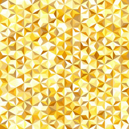Background of yellow, white geometric shapes. Seamless mosaic pattern. Vector illustration