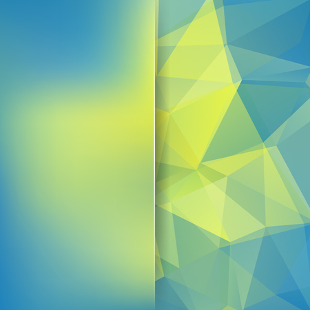 Polygonal vector background. Blur background. Can be used in cover design, book design, website background. Vector illustration. Yellow, blue colors.