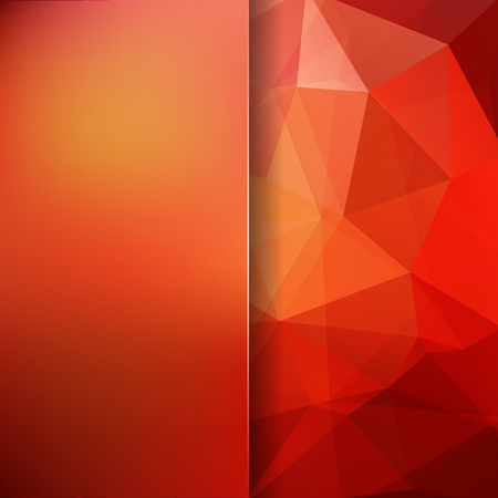 Abstract background consisting of red, orange triangles. Geometric design for business presentations or web template banner flyer. Vector illustration