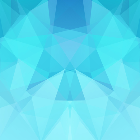 Abstract background consisting of blue triangles. Geometric design for business presentations or web template banner flyer. Vector illustration