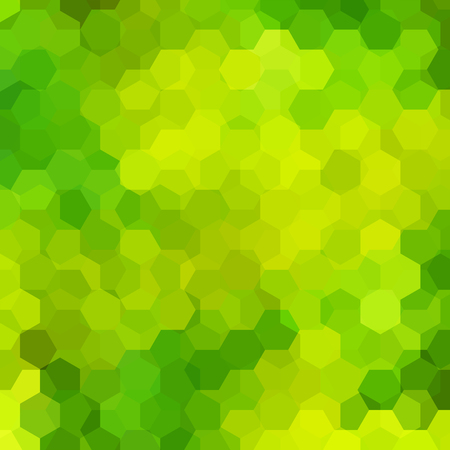 Green Hexagons mosaic pattern Illustration