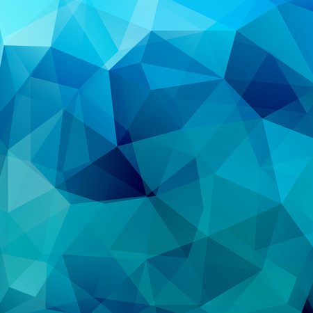 Geometric pattern, polygon triangles vector background in blue tone. Illustration pattern Illustration