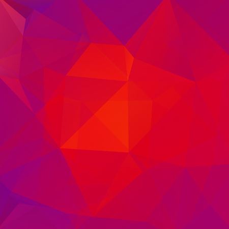 Background made of red, pink, purple triangles. Square composition with geometric shapes. Eps 10