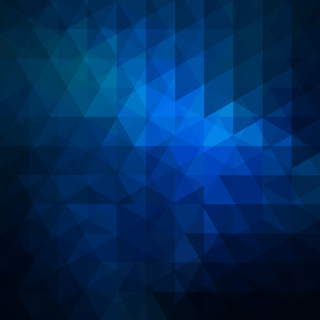 Abstract background consisting of dark blue triangles. Geometric design for business presentations or web template banner flyer. Vector illustration