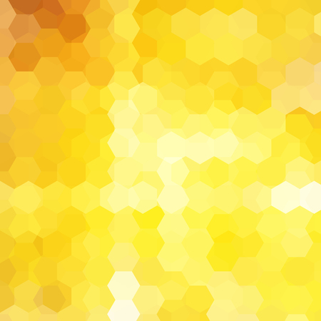 Vector background with yellow, orange hexagons. Can be used in cover design, book design, website background. Vector illustration