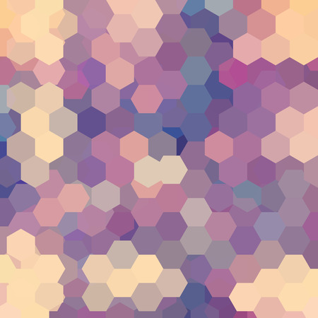 Background of beige, pink geometric shapes. Mosaic pattern. Vector EPS 10. Vector illustration