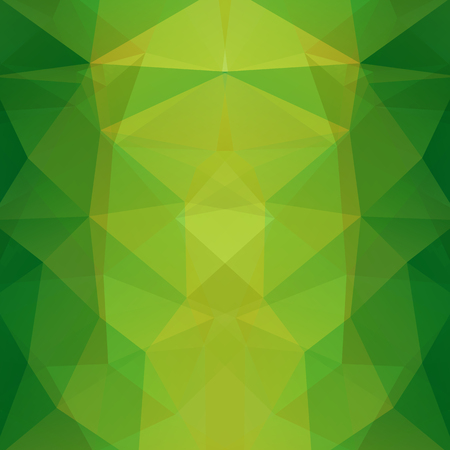 Background of geometric shapes. Green mosaic pattern