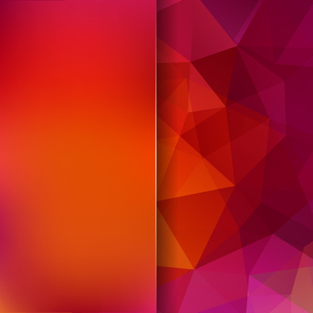 Abstract mosaic background. Blur background. Triangle geometric background. Design elements. Vector illustration. Red, orange colors. Illustration
