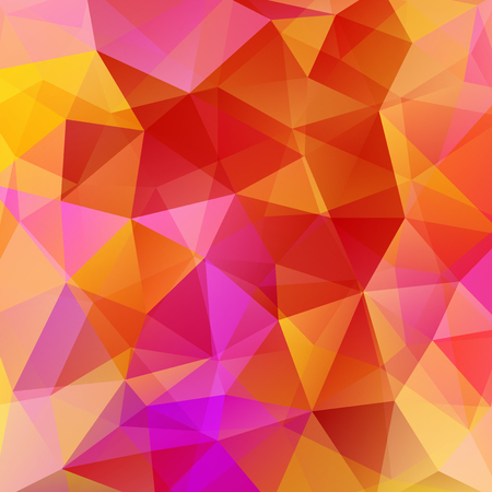 Abstract background consisting of red, orange, yellow triangles. Geometric design for business presentations or web template banner flyer. Vector illustration