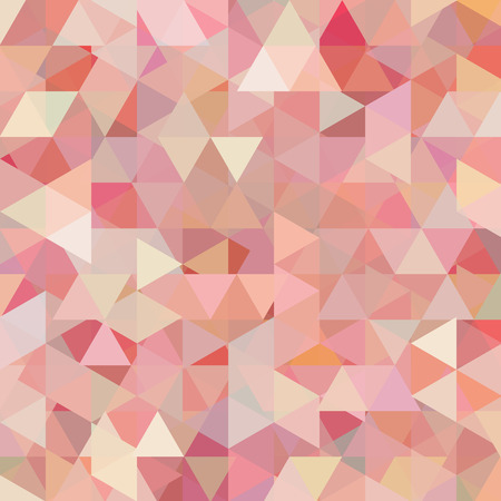 Abstract background consisting of pink, beige, white triangles. Geometric design for business presentations or web template banner flyer. Vector illustration Çizim