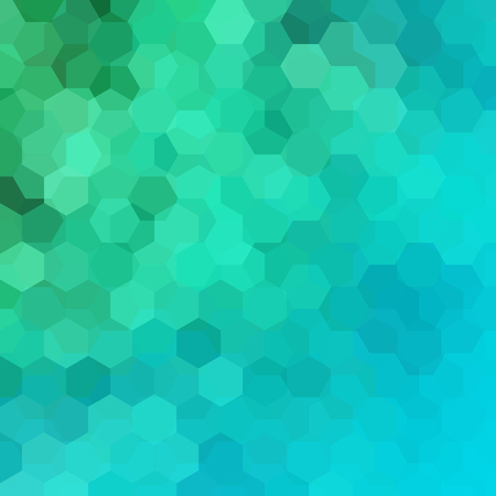 Abstract background consisting of green, blue hexagons. Geometric design for business presentations or web template banner flyer. Vector illustration Ilustrace