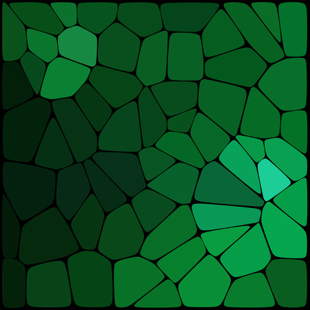 Abstract green mosaic pattern. Abstract background consisting of elements of different shapes arranged in a mosaic style. Vector illustration.