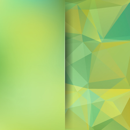 Abstract background consisting of green, yellow triangles. Geometric design for business presentations or web template banner flyer. Vector illustration