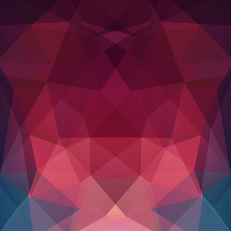 Background of red, pink, green geometric shapes. Mosaic pattern. Vector EPS 10. Vector illustration Illusztráció