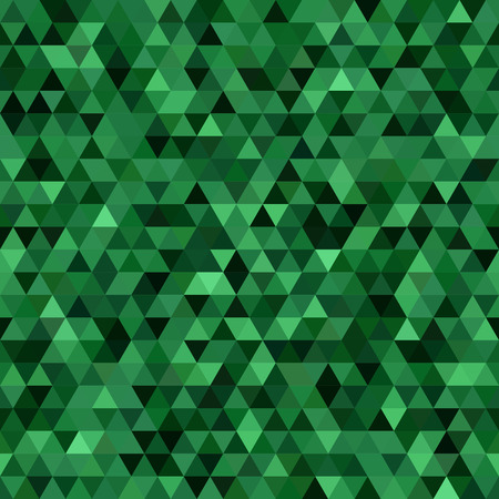 Abstract background consisting of green triangles. Geometric design for business presentations or web template banner flyer. Illustration pattern. Ideal for printing onto fabric and paper or decoration.