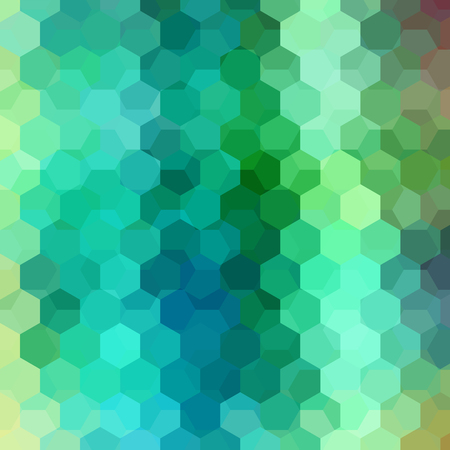 Vector background with green, blue hexagons. Can be used in cover design, book design, website background. Vector illustration