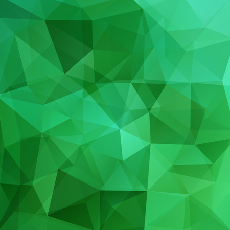 Abstract polygonal vector background. Green geometric vector illustration. Creative design template. Ilustrace