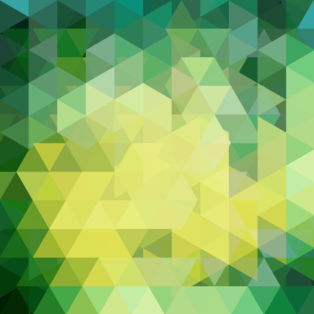 Triangle vector background. Can be used in cover design, book design, website background. Vector illustration. Green, yellow colors. Stock Photo