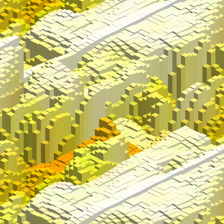 Abstract background with 3d cubes. Vector cube box for business concepts. Yellow, white, orange colors. Stockfoto