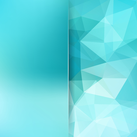 Geometric pattern, polygon triangles vector background in blue, white tones. Blur background with glass. Illustration pattern Illustration