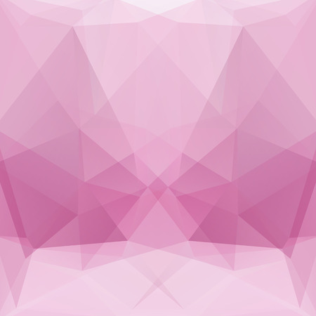 Geometric pattern, polygon triangles vector background in pink Â' tone. Illustration pattern