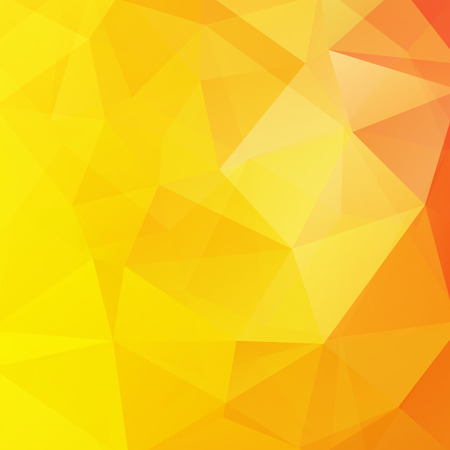Polygonal vector background. Can be used in cover design, book design, website background. Vector illustration. Yellow, orange colors. Illustration
