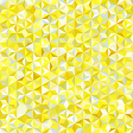 Vector seamless abstract background for design with yellow triangles. Vector illustration