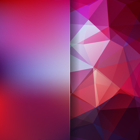 Abstract background consisting of purple triangles. Geometric design for business presentations or web template banner flyer. Vector illustration 免版税图像 - 112121394