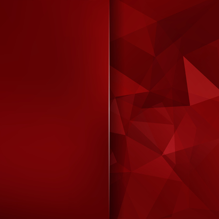 Geometric pattern, polygon triangles vector background in red ' tone. Blur background with glass. Illustration pattern