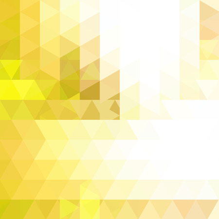 Triangle vector background. Can be used in cover design, book design, website background. Vector illustration. Yellow, white colors.