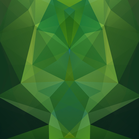 Abstract background consisting of green triangles. Geometric design for business presentations or web template banner flyer. Vector illustration Ilustrace
