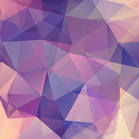 Background of geometric shapes. Purple mosaic pattern. Vector illustration Ilustrace