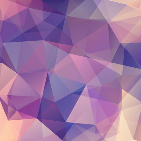 Background of geometric shapes. Purple mosaic pattern. Vector illustration Illustration