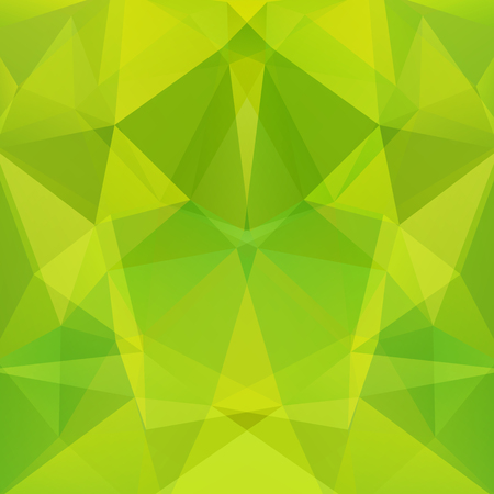 Geometric pattern, polygon triangles vector background in green, yellow ' tones. Illustration pattern