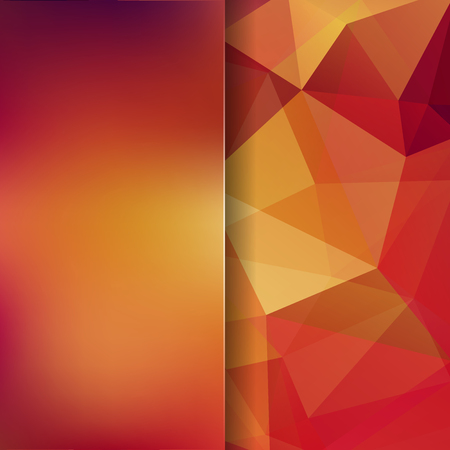 Abstract mosaic background. Blur background. Triangle geometric background. Design elements. Vector illustration. Yellow, orange colors. 矢量图像